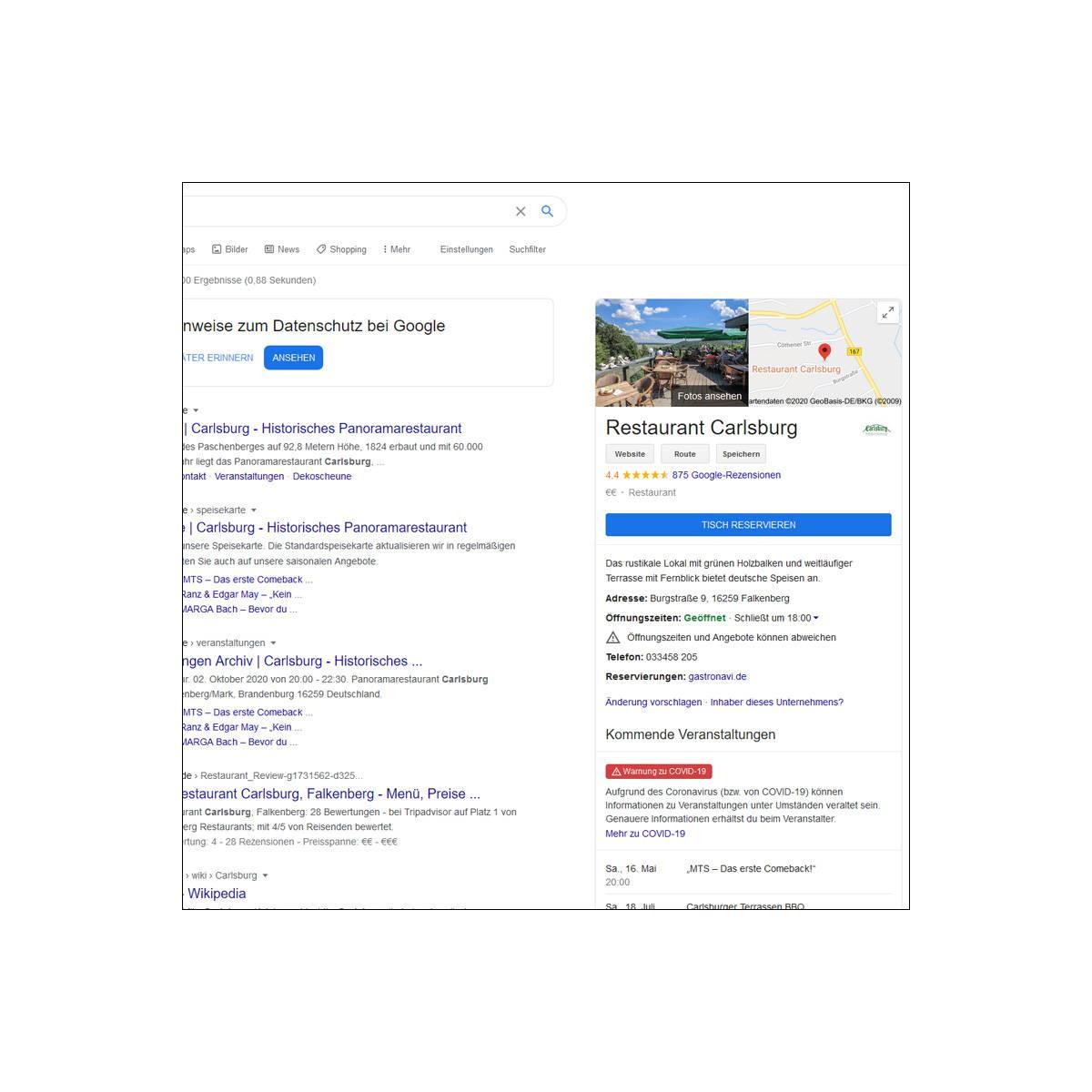 Beispiel für Local SEO - Webdesign Berlin - Devcode