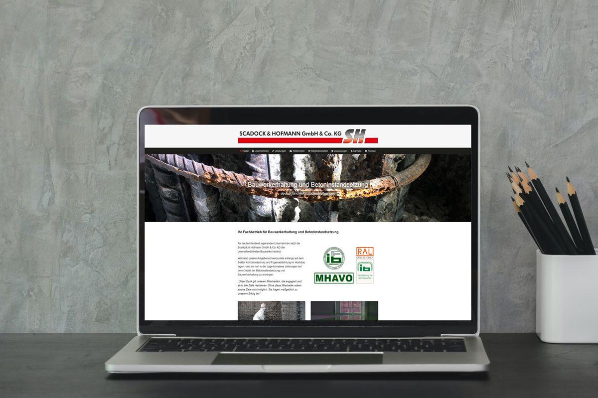 Referenz Scadock & Hofmann - Webdesign Berlin Devcode