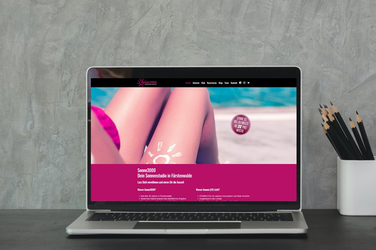 Referenz Sonnenstudio3000 - Webdesign Berlin Devcode